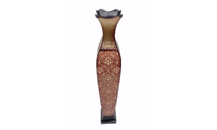 Dlusso Designs Home Decor 34 Inch Angela Design Metal Floor Vase