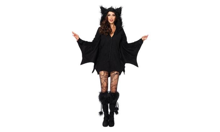 Women's One Piece Cozy Bat Costume