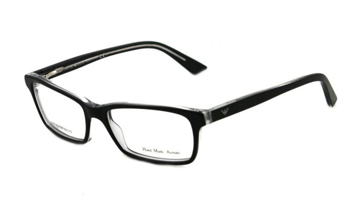 Emporio Armani EA9728 7C5 Black Plastic Eyeglasses Frame 50-15-135