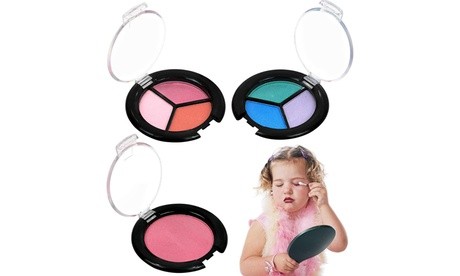 Pretend Play Kids Washable Real Makeup Set with Pink Cosmetic Kit Bag Set of 13