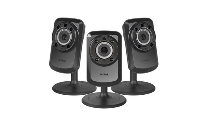 3 pack D-Link Home Surveillance Wireless Cameras