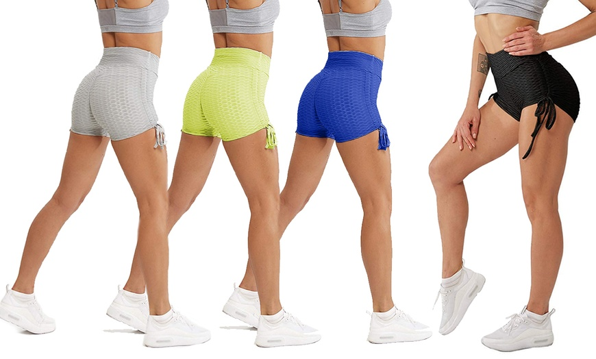 Women Compression Shorts Sports Yoga Gym Fitness Butt Booty Lifting Short Pants