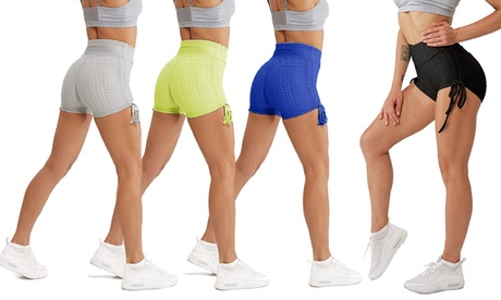 Women Booty Short Compression Yoga Pants Sports Gym Fitness Running Butt Lift