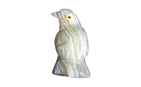 Natures Artifacts Multi Green Onyx Raven Figurine (Pack of 5) 410e76ec-2e45-49fe-99c7-16fcba4dcd37