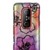 Insten Black Pattern Hard Rubberized Case For HTC EVO 3D Purple