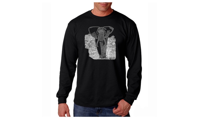 Men's Long Sleeve T-shirt - ELEPHANT