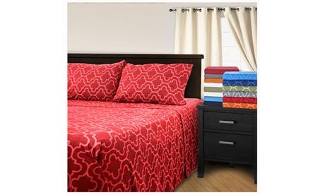 Superior All Season Brushed Cotton Trellis Flannel Sheet Set 21f5703b-9d13-40c9-aa0f-810b6692bcdb