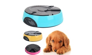 6 Meal Timed LCD Automatic Dog Cat Pet Feeder Bowl Food Dispenser