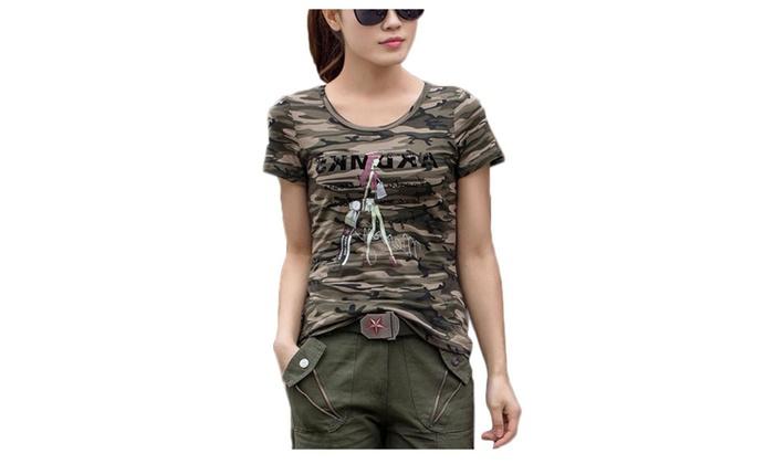 Women's Fashion Pullover Short Sleeve Crew Neck T-Shirt