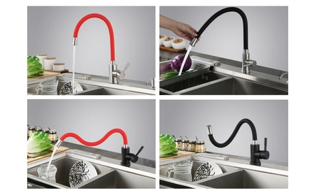 Stainless steel hot and cold water 360° rotate kitchen faucet c77b5dc9-08d1-4808-a35f-f0df1653e3f0