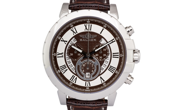 Balmer atalante men 39 s chronograph watch groupon for Accolades salon groupon