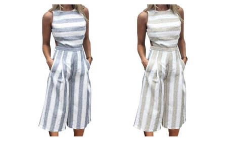 Another Day Striped Casual Romper 1b4a9414-71ac-4f2d-80cf-ee17e04cbc4c