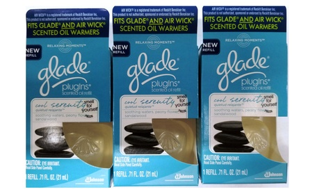 Glade P/Ins Scented Oil Refill Relaxing Moment Cool Serenity Pack of 6