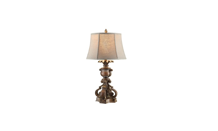 Crestview Collection 32 25 In Distressed Wood Table Lamp Groupon