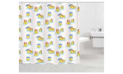 Image Placeholder Image For HAPPY DUCKS Fabric Shower Curtain