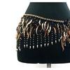 Belly Dance Lace Shiny Sequin Hip Scarf Belt Wrap -- Copper