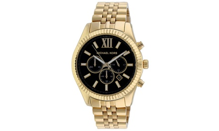 Michael kors men 39 s classic chronograph watch groupon for Michaels craft store watches