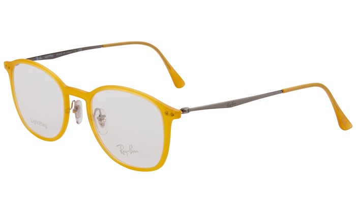 25195a84bc Ray-Ban Eyeglasses Yellow 49-20-140 Clear Demo Lens RX 7051 5519 49 Demo  Lens Included Plastic