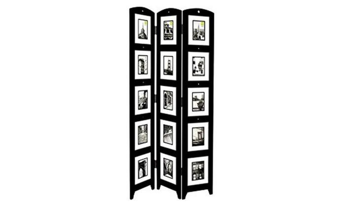Memories Photo Frame Room Divider - Rosewood 3 Panel | Groupon
