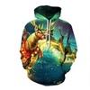 Men's 3D Digital Print Casual Christmas Hoodie Pullover Sweatshirt