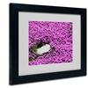 Kurt Shaffer 'Island in Purple' Matted Black Framed Art