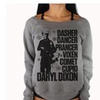 Grey Off The Shoulder Daryl Dixon Christmas Sweater