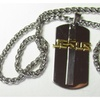 Jesus Dogtag Necklace with Deluxe Chain - Saint Michaels Jewelry