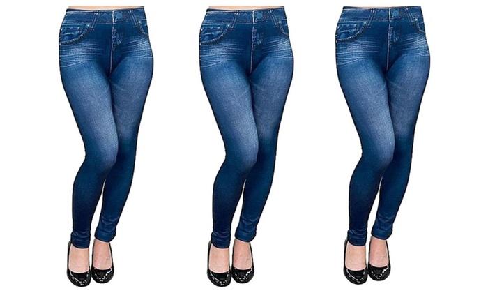 Premium Jean Yoga Excercise Leggings (Medium)