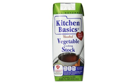 Kitchen Basics All Natural Unsalted Vegetable Stock - 8.25 oz. 7c5fc5a8-ee25-488b-8342-6492ad76a53d