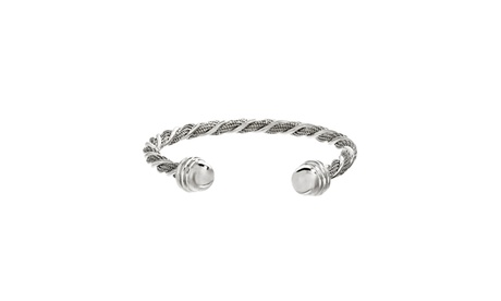 Stainless Steel Twisted Design Wire Cuff Bangle e0eee3ab-c9d6-433a-99c4-ae6eeb89ca64