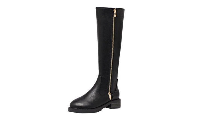 Women's Zipper Leather Martin Boots