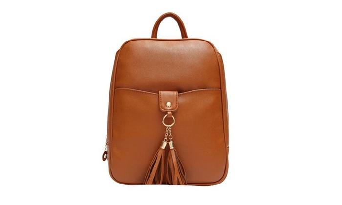 Women's Vintage School Zip Backpack