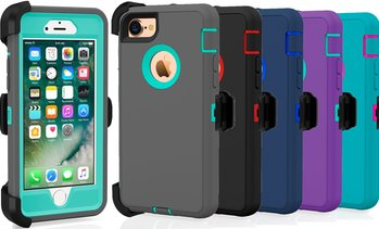 Apple iPhone 7 / 8 / Plus Protective Shockproof Hybrid Defender Case With Clip