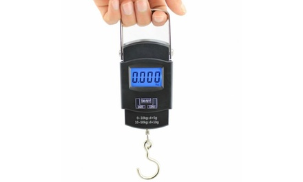 Portable 50kg 10g LCD Digital Fish Hanging Luggage Weight Electronic Hook Scale