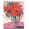 Sheila Golden 'Scarlet Bouquet' Canvas Art