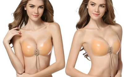 4eb9e47985 Shop Groupon Silicone Adhesive Push-Up Bra