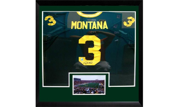 promo code 5d511 bc623 A.J. McCarron or Joe Montana NCAA Autographed Jersey In Double Matted Frame
