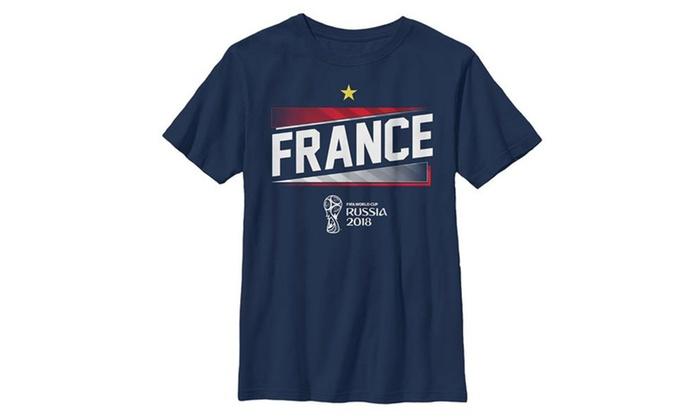 4f5aca5dda2 FIFA World Cup Russia 2018 France Team Boys T Shirt