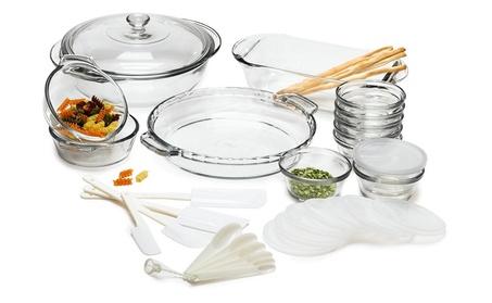 Anchor Hocking 1733 Expressions Glass Cookware, 33-Piece Set 61af6b2a-7837-424d-a939-242f3412789d