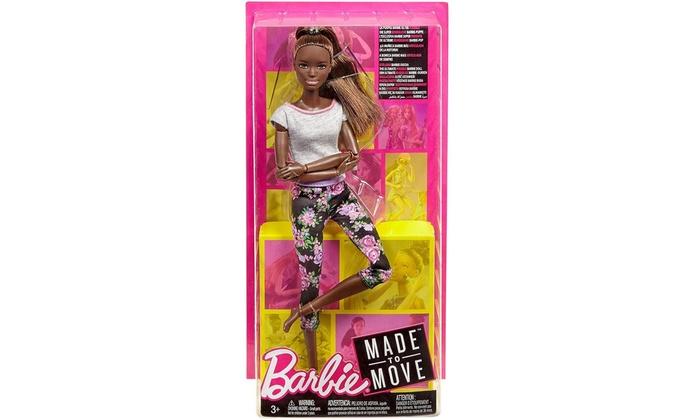 Dark Hair Barbie Made To Move Doll