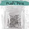 Bulk Buys OS115-48 Clear Plastic Push Pins - 48 Piece