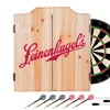 Leinenkugel's Dart Cabinet Set with Darts and Board