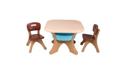 Costway Children Kids Activity Table Chair Set Play Set Furniture W/Storage