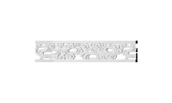 7H x 5//8P x 94 1//2L Flower Pierced Panel Moulding