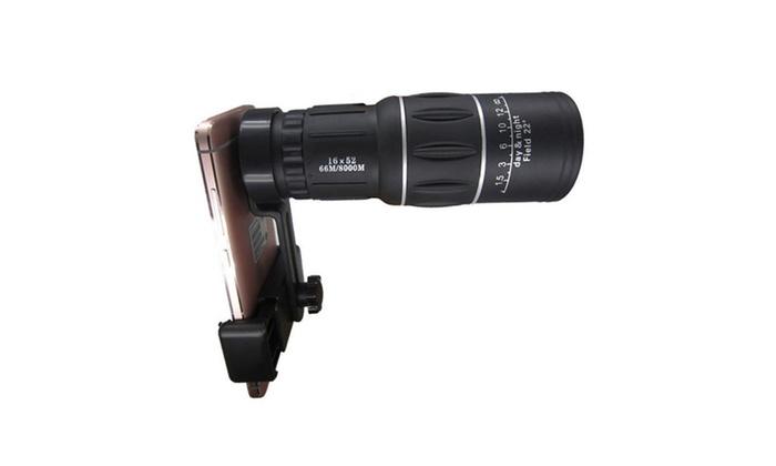 Zoom dual focus monocular telescope lens camera hd scope phone