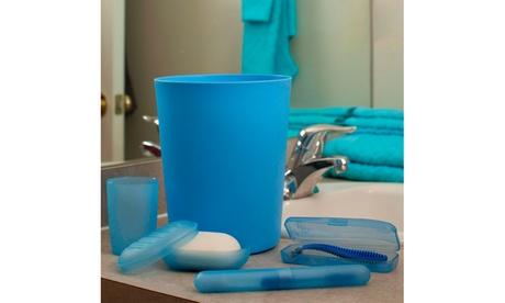5 Piece Waste Basket and Toiletry Case Set - Blue 3968d30e-0ca5-4cb1-a6ef-3803d3551920