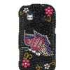 Insten 3D  Diamante Butterfly Hard Cover Case For HTC Amaze 4G Black/Pink