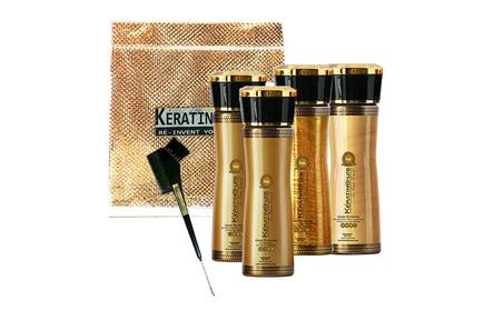 Keratin Cure Smoothing Hair Treatment 160ml/ 5 fl oz 6 Piece Kit cfb92aeb-8873-4fd2-9ebc-82e309c2da78