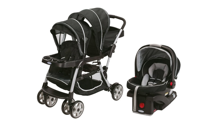 Graco Ready2Grow LX Duo Double Baby Stroller + Car Seat Travel ...