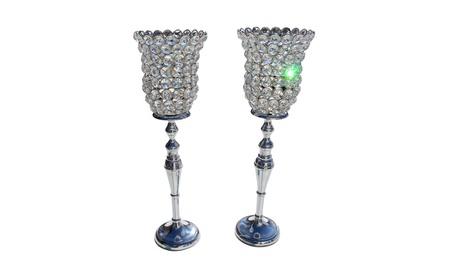 Glass Crystal Chimney Votive 15 inches Pedestal Wedding Centerpiece 7d53354f-6f04-41f0-a5a2-0e3f2e484d84